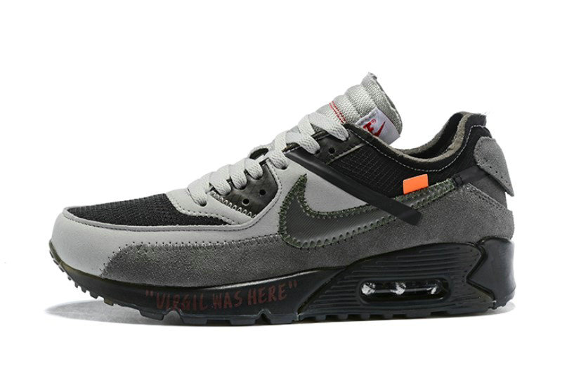 2019 Where To Buy Cheap Wholesale Off White X Nike Air Max 90 Grey White OW AA7293-005 - www.wholesaleflyknit.com