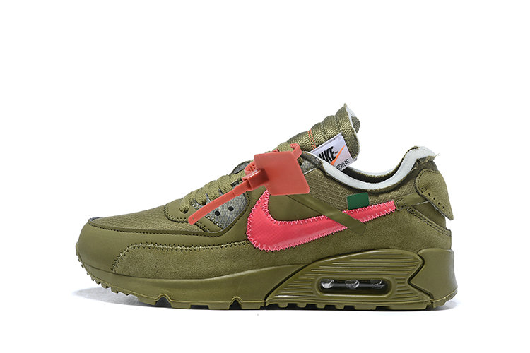 2019 Where To Buy Cheap Wholesale Off White X Nike Air Max 90 The 10 Army Green OW AA7293-201 - www.wholesaleflyknit.com