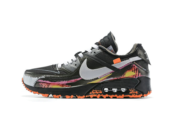 2019 Where To Buy Cheap Wholesale Off-White x Nike Air Max 90 Flame Black - www.wholesaleflyknit.com