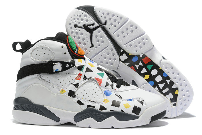 Where To Buy 2020 Air Jordan 8 Quai 54 White Black-Multi-Color For Sale - www.wholesaleflyknit.com