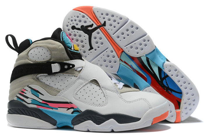 Where To Buy 2020 Air Jordan 8 South Beach White Turbo Green-Multi-Color 305381-113 - www.wholesaleflyknit.com