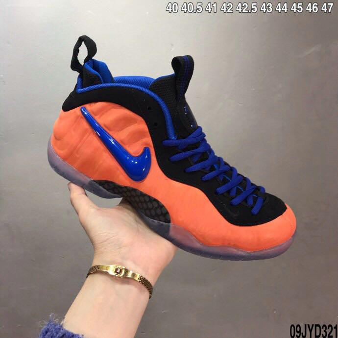 2020 Cheap Wholesale Nike Air Foamposite Orange Black Royal Blue - www.wholesaleflyknit.com