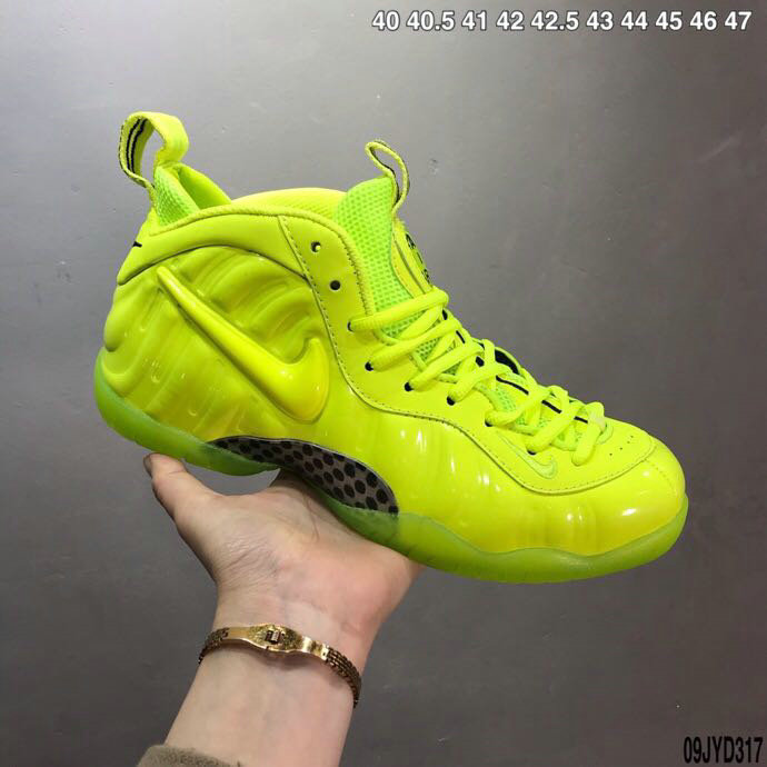 2020 Cheap Wholesale Nike Air Foamposite Volt Green Black - www.wholesaleflyknit.com