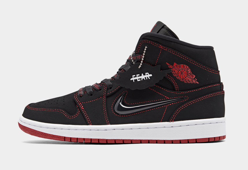 2020 Cheap Wholesale Nike Air Jordan 1 Mid Come Fly With Me Black Gym Red White Noir Blanc Rouge Gym CK5665-062 - www.wholesaleflyknit.com