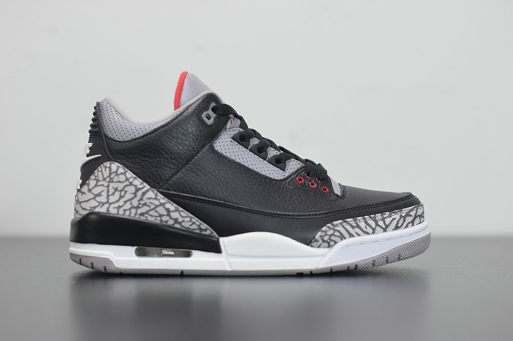 2020 Cheap Wholesale Nike Air Jordan 3 Black Fire Red-Cement Grey Noir Gris Ciment Rouge Feu 854262-001 - www.wholesaleflyknit.com