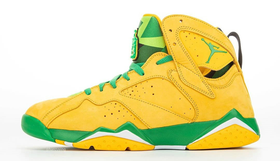 2020 Cheap Wholesale Nike Air Jordan 7 Oregon Ducks AT3375-300 - www.wholesaleflyknit.com