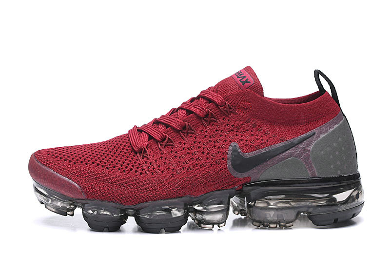 2020 Cheap Wholesale Nike Air VaporMax Flyknit 2.0 Wine Red Black Grey 942843-604 - www.wholesaleflyknit.com