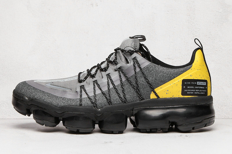 2020 Cheap Wholesale Nike Air VaporMax Run Utility Yellow Cool Grey Black - www.wholesaleflyknit.com