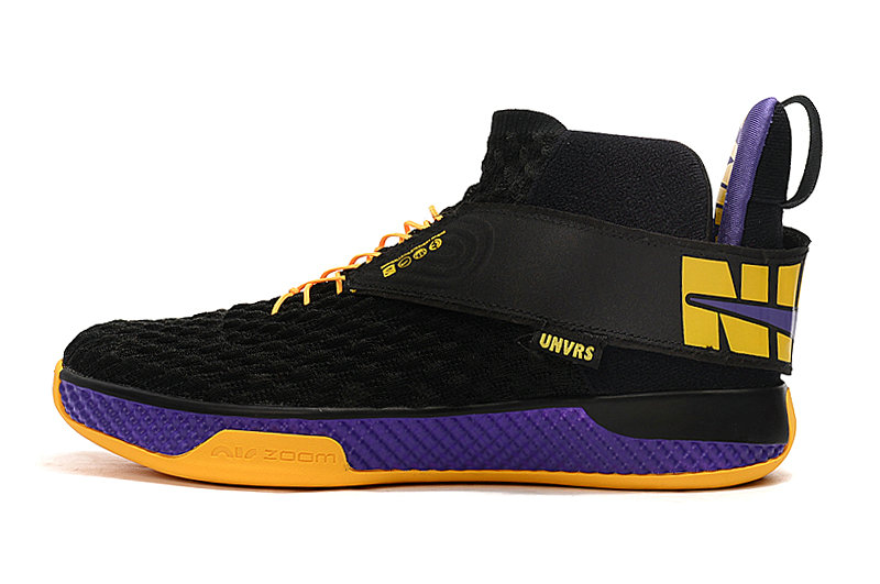 2020 Cheap Wholesale Nike Air Zoom UNVRS Lakers Black Amarillo-Court Purple - www.wholesaleflyknit.com