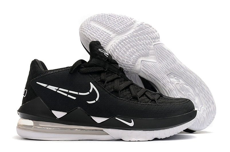 2020 Cheap Wholesale Nike LeBron 17 Low Black White - www.wholesaleflyknit.com
