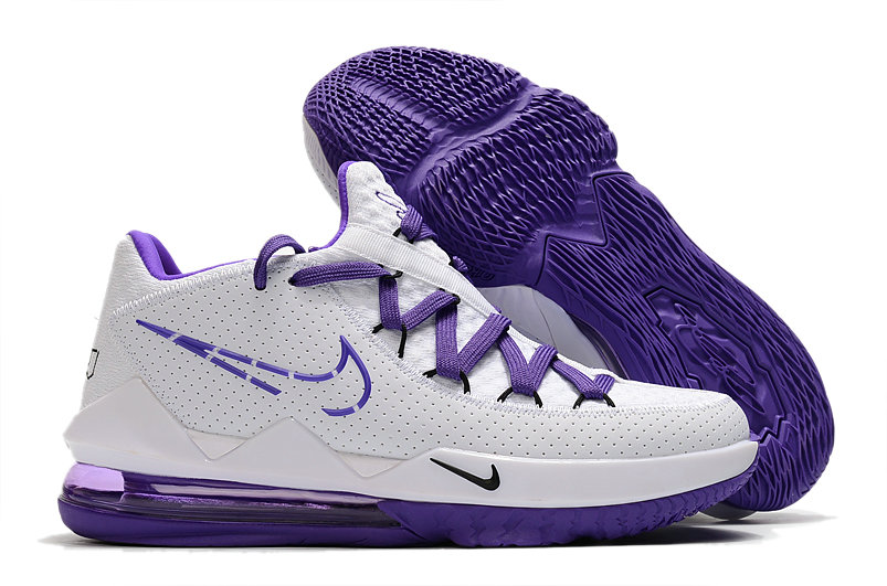 2020 Cheap Wholesale Nike LeBron 17 Low Purple White - www.wholesaleflyknit.com