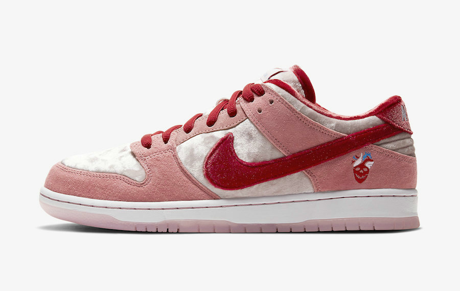 2020 Cheap Wholesale Nike SB Dunk Low Valentines Day Bright Melon Gym Red Clair Rouge CT2552-800 - www.wholesaleflyknit.com