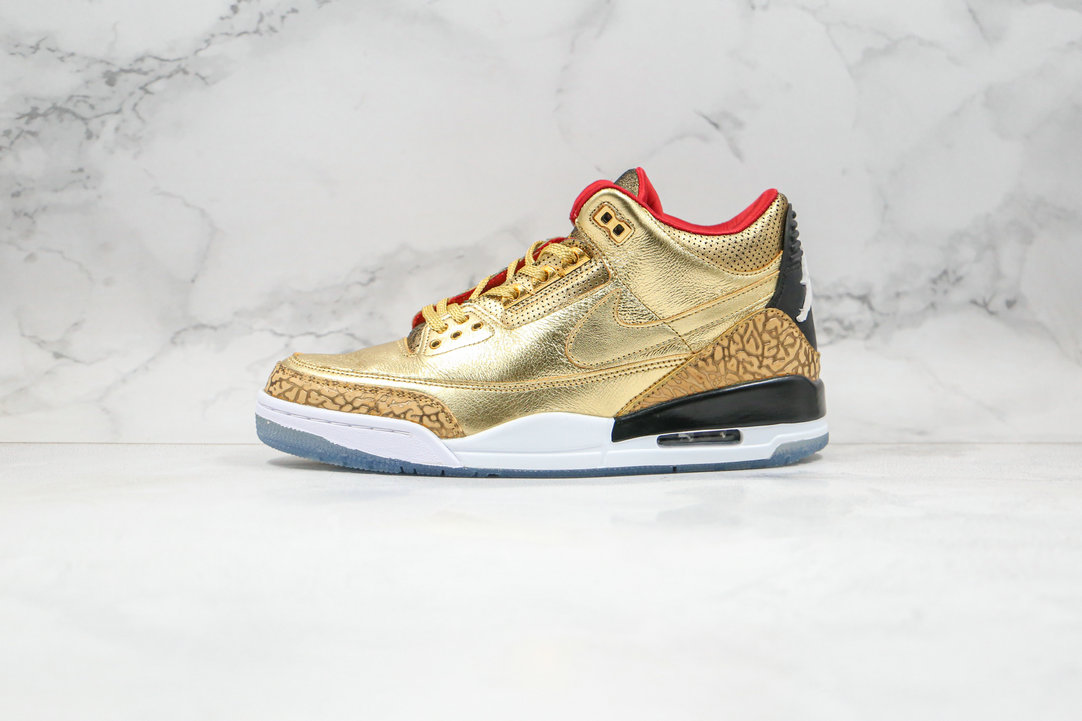2020 Cheapest Nike Air Jordan 3 Tinker Spike Lee Luxury Gold Color Red SILK AJ3-933512 - www.wholesaleflyknit.com