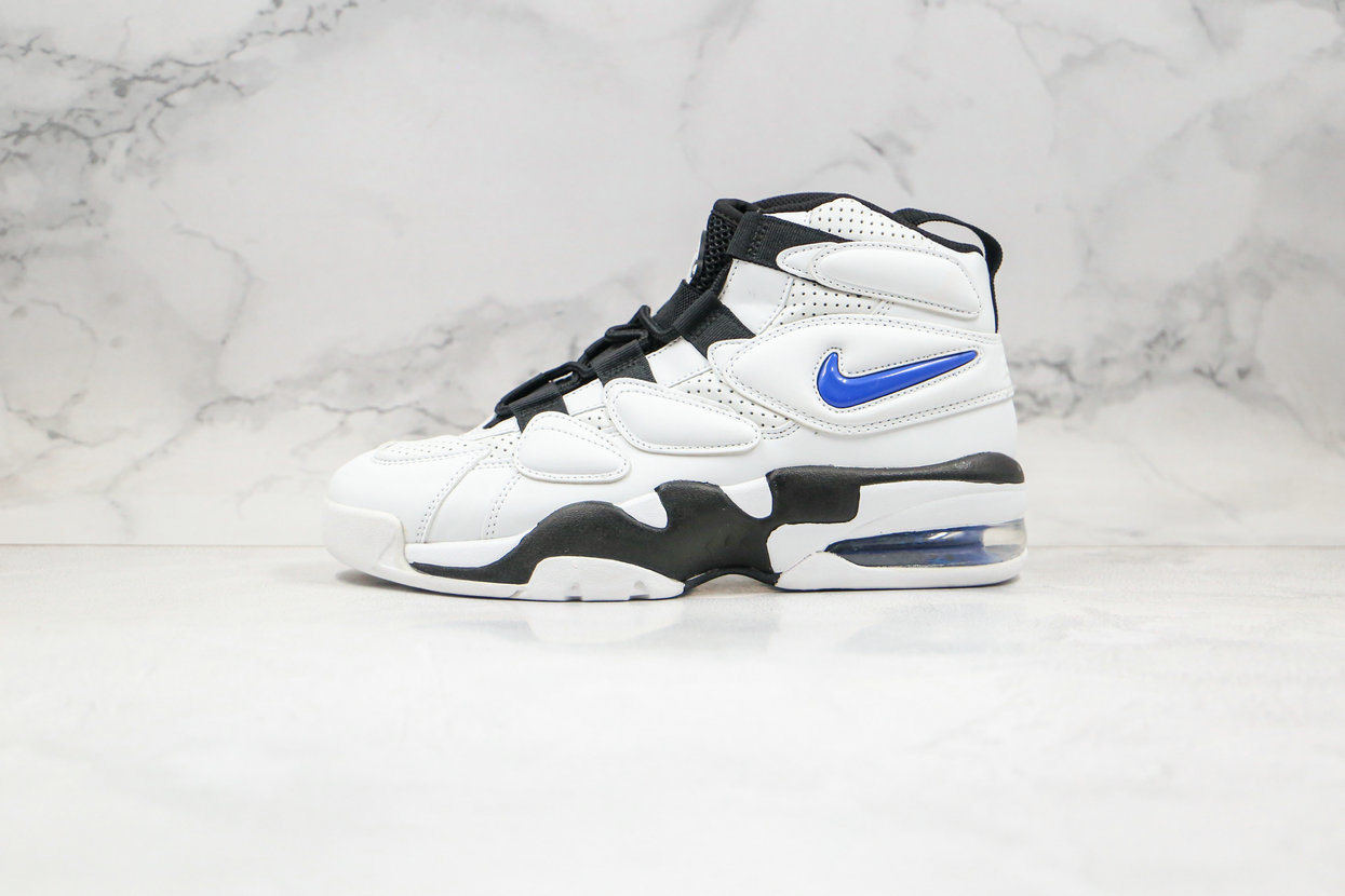 2020 Cheapest Nike Air Max Uptempo 2 White Royal Blue Black 472490-001 - www.wholesaleflyknit.com