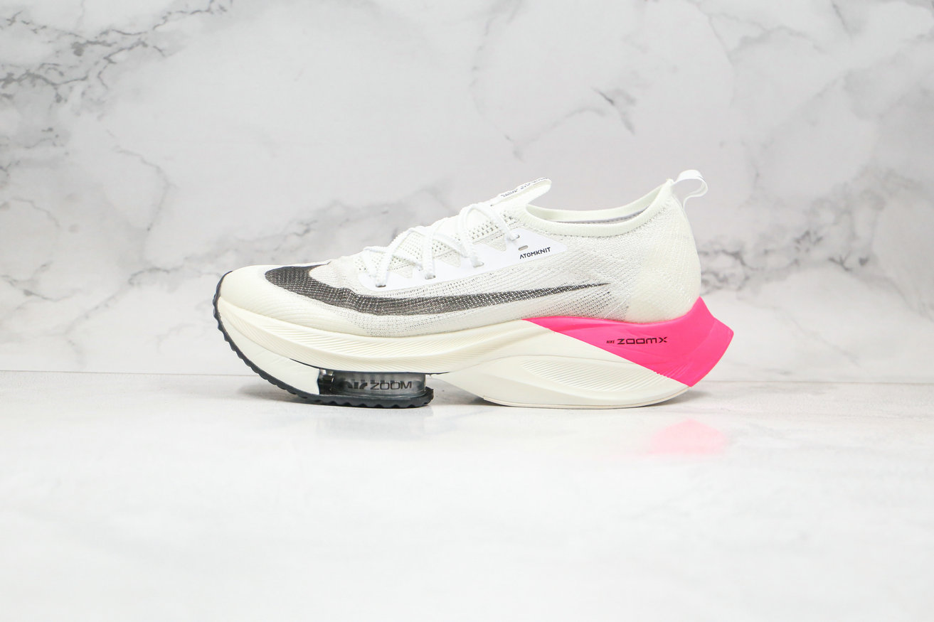 2020 Cheapest Nike Air Zoom Alphafly NEXT White Black Pink CI9925-600 - www.wholesaleflyknit.com