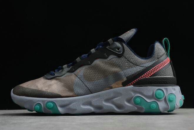 Where To Buy 2020 Nike Epic React Element 87 Black Neptune Green-Bright Mango-Midnight Navy AQ1090-005 - www.wholesaleflyknit.com