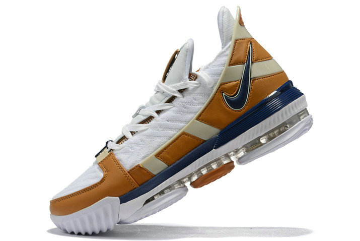 Where To Buy 2020 Nike LeBron 16 Air Trainer White Midnight Navy-Ginger CD7089-100 - www.wholesaleflyknit.com