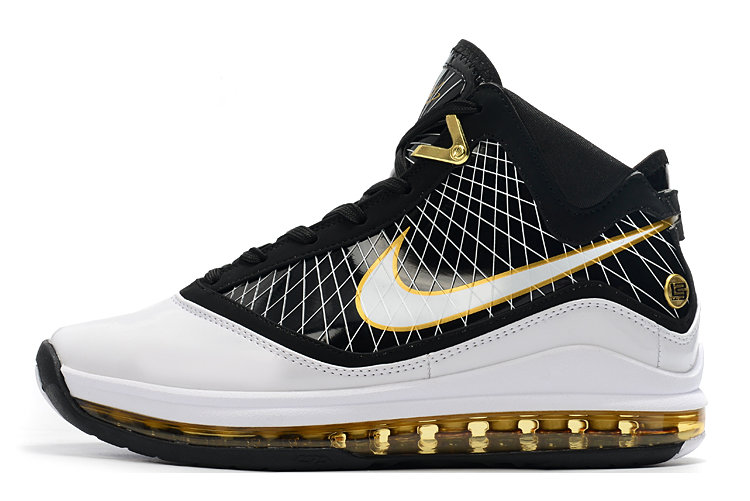 Where To Buy 2020 Nike LeBron 7 Black White Gold For Sale - www.wholesaleflyknit.com