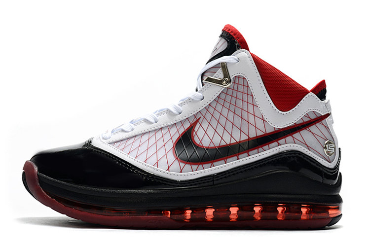 Where To Buy 2020 Nike LeBron 7 Cleat White Black Red For Sale - www.wholesaleflyknit.com