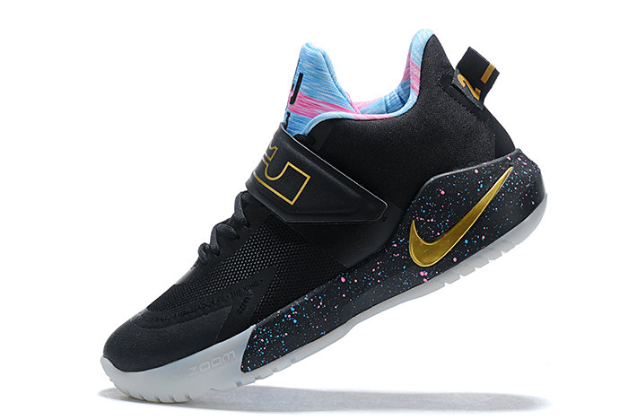 Where To Buy 2020 Nike LeBron Ambassador 12 Black Multi-Color For Sale - www.wholesaleflyknit.com