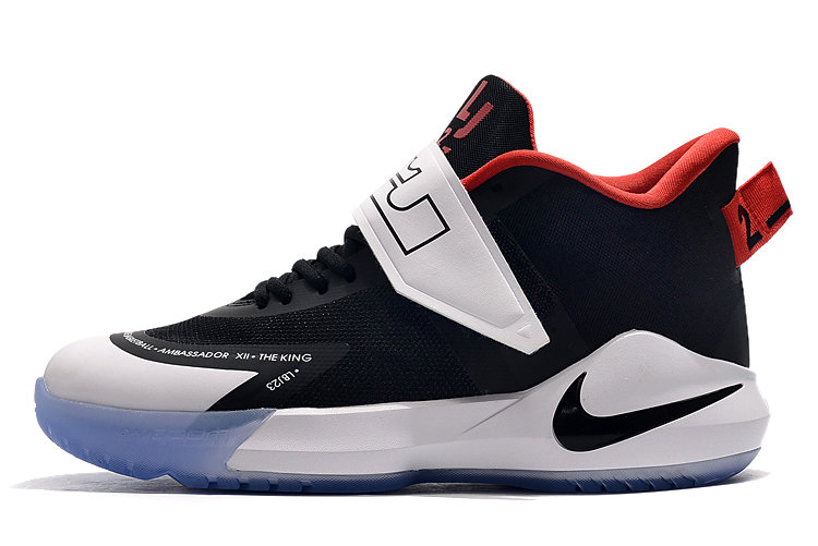 Where To Buy 2020 Nike LeBron Ambassador 12 Black White-Red BQ5436-001 - www.wholesaleflyknit.com