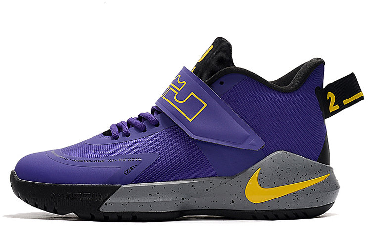Where To Buy 2020 Nike LeBron Ambassador 12 Purple Yellow-Black For Sale - www.wholesaleflyknit.com
