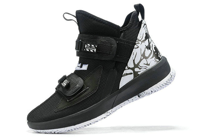 Where To Buy 2020 Nike LeBron Soldier 13 BHM Black White For Sale - www.wholesaleflyknit.com