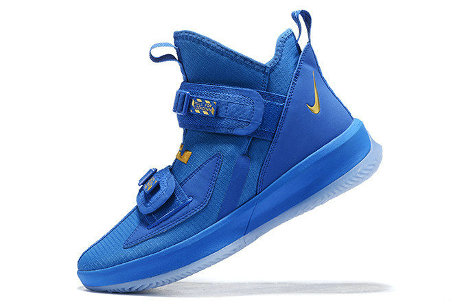 Where To Buy 2020 Nike LeBron Soldier 13 Royal Blue Metallic Gold For Sale - www.wholesaleflyknit.com