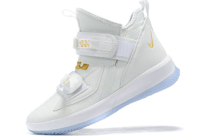 Where To Buy 2020 Nike LeBron Soldier 13 White Metallic Gold For Sale - www.wholesaleflyknit.com