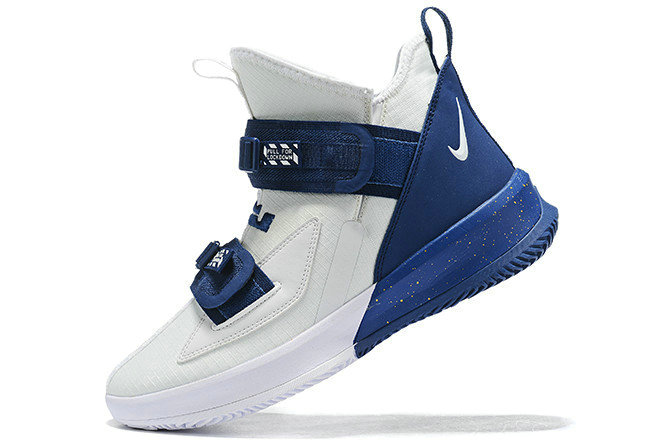 Where To Buy 2020 Nike LeBron Soldier 13 White Navy Blue For Sale - www.wholesaleflyknit.com