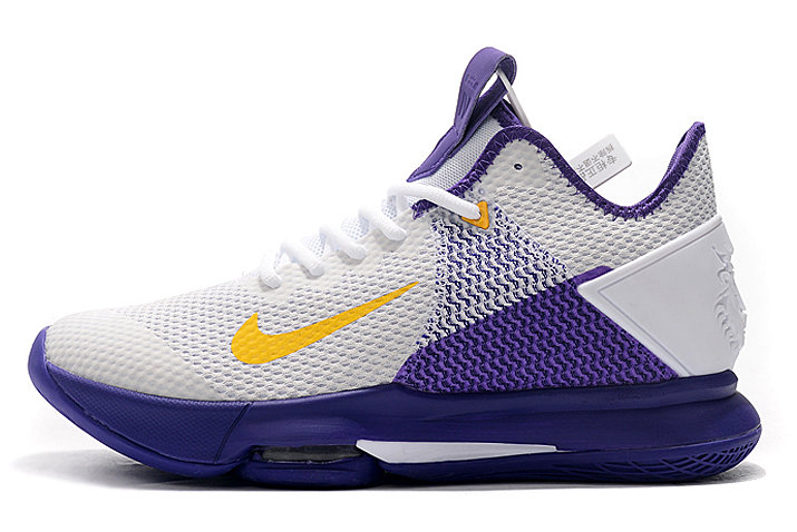 Where To Buy 2020 Nike LeBron Witness 4 EP Lakers White Amarillo-Field Purple CD0188-100 - www.wholesaleflyknit.com