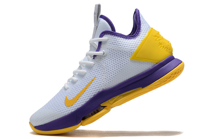 Where To Buy 2020 Nike LeBron Witness 4 IV EP White Purple-Yellow For Sale - www.wholesaleflyknit.com