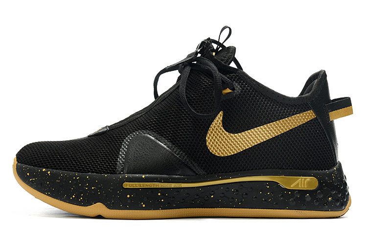 Where To Buy 2020 Nike PG 4 Black Metallic Gold For Sale - www.wholesaleflyknit.com