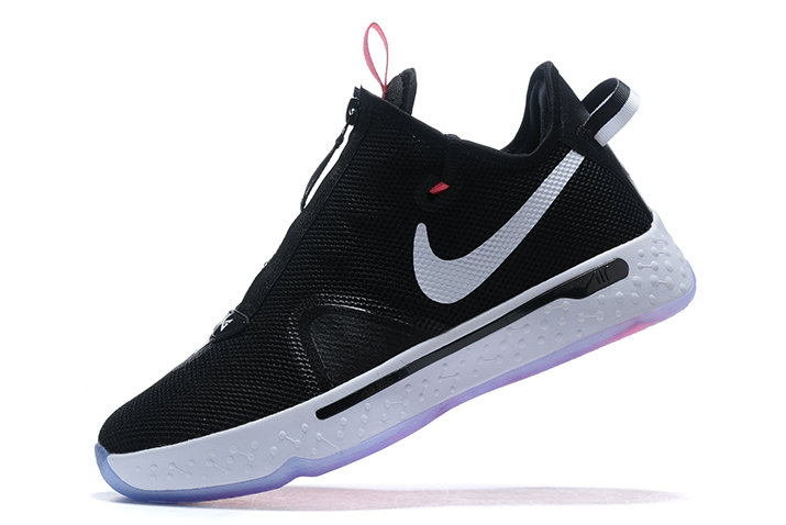 Where To Buy 2020 Nike PG 4 Black White-Pink For Sale - www.wholesaleflyknit.com