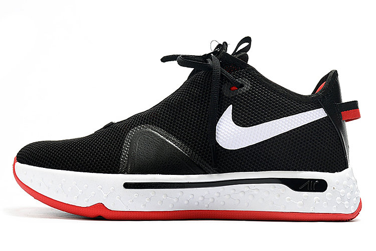 Where To Buy 2020 Nike PG 4 Bred Black White-University Red For Sale - www.wholesaleflyknit.com