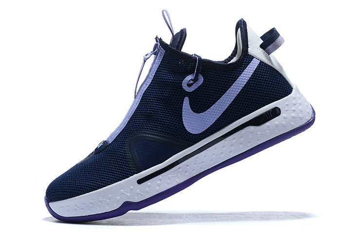 Where To Buy 2020 Nike PG 4 Navy Blue White-Purple For Sale - www.wholesaleflyknit.com