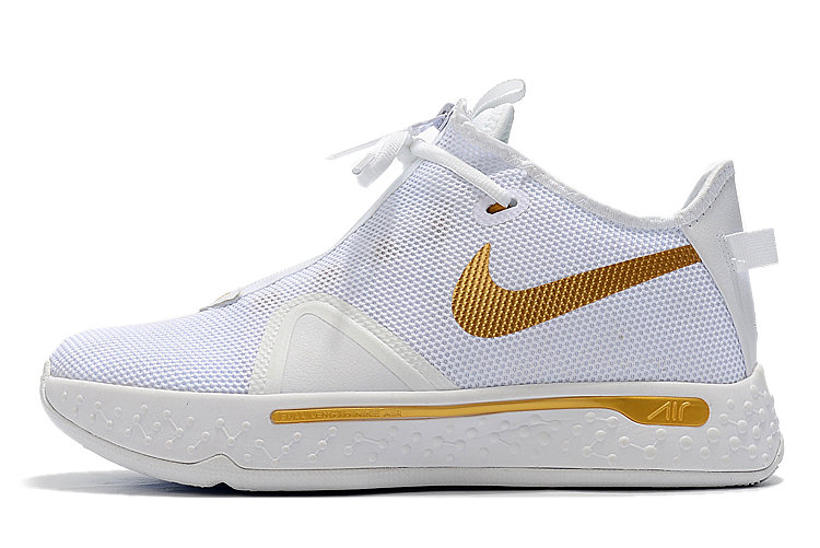 Where To Buy 2020 Nike PG 4 White Metallic Gold For Sale - www.wholesaleflyknit.com