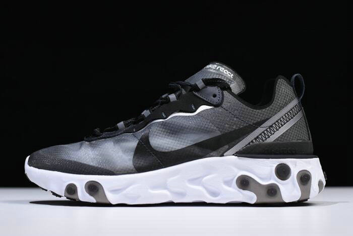 Where To Buy 2020 Nike React Element 87 Anthracite Black-White AQ1090-001 Free Shipping - www.wholesaleflyknit.com