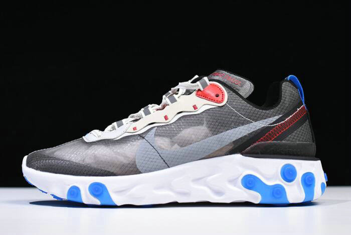 Where To Buy 2020 Nike React Element 87 Dark Grey Pure Platinum-Photo Blue AQ1090-003 - www.wholesaleflyknit.com