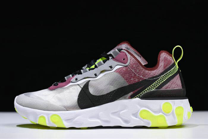 Where To Buy 2020 Nike React Element 87 Desert Sand Cool Grey-Smokey Mauve AQ1090-002 For Sale - www.wholesaleflyknit.com