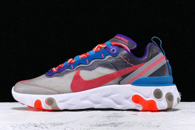 Where To Buy 2020 Nike React Element 87 Red Orbit Black Red Orbit-White-Green CJ6897-061 - www.wholesaleflyknit.com