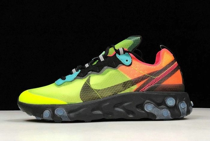 Where To Buy 2020 Nike React Element 87 Volt Racer Pink-Black-Aurora AQ1090-700 - www.wholesaleflyknit.com