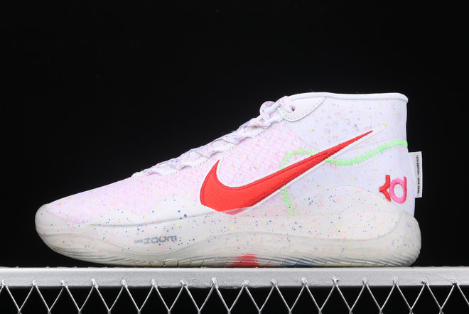 Where To Buy 2020 Nike Zoom KD 12 EP White Multi Color-Red AR4230-118 - www.wholesaleflyknit.com