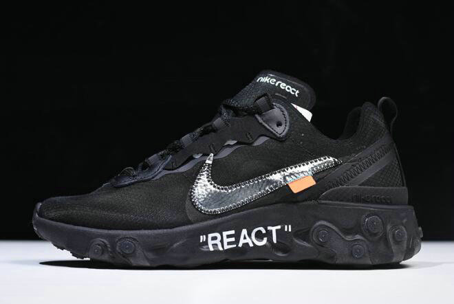 Where To Buy 2020 Off-White x Nike React Element 87 Black AQ0068-001 For Sale - www.wholesaleflyknit.com