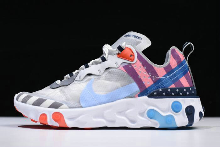 Where To Buy 2020 Parra x Nike React Element 87 White Multi-Color AQ3057-100 - www.wholesaleflyknit.com