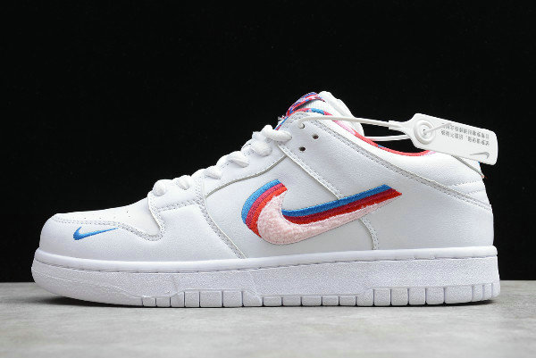 Where To Buy 2020 Parra x Nike SB Dunk Low Layered Swoosh White Multi-Color CN4504-100 - www.wholesaleflyknit.com