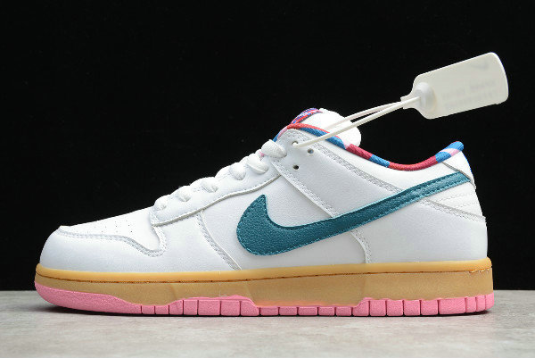 Where To Buy 2020 Parra x Nike SB Dunk Low White Blue-Pink CN4504-108 - www.wholesaleflyknit.com