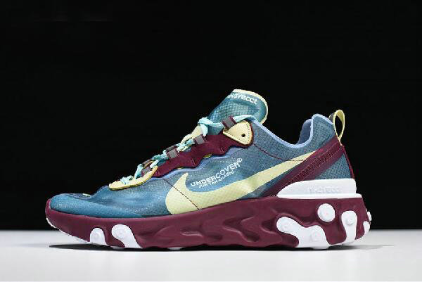 Where To Buy 2020 Undercover x Nike React Element 87 Blue Gold Purple White AQ1813-001 Free Shipping - www.wholesaleflyknit.com