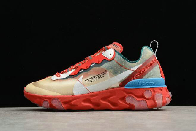 Where To Buy 2020 Undercover x Nike React Element 87 Red Light Green Sail Mens Size For Sale - www.wholesaleflyknit.com