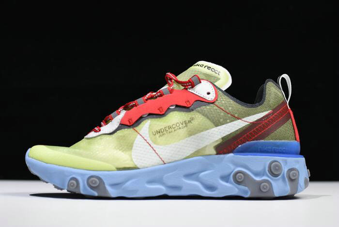Where To Buy 2020 Undercover x Nike React Element 87 Volt Volt University Red-White BQ2718-700 - www.wholesaleflyknit.com